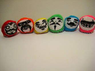 Mustachio beanies- set of 6 by loveandasandwich