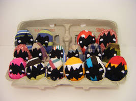 Tons of fabric easter eggs by loveandasandwich