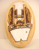 Bunny and baby plaque by loveandasandwich