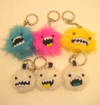 MONSTER AND YETI KEYCHAINS