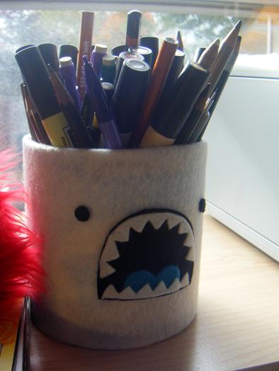 Yeti pencil holder for Daviddd by loveandasandwich