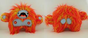 Orange yeti Commission by loveandasandwich