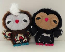 Newborn Owlets by loveandasandwich
