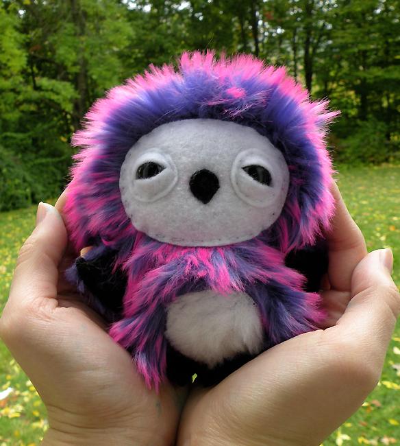 Little Purple Owlet by loveandasandwich