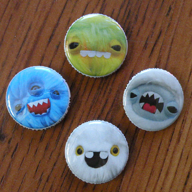 New Monster buttonss by loveandasandwich