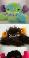 Three Newborn Monstroctopi by loveandasandwich