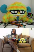 Geek Squad monster by loveandasandwich