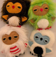 Four Newborn Owlets by loveandasandwich