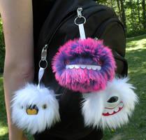 Keychain monsters by loveandasandwich