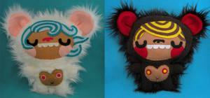 Panya and Giff, the Bear Kids by loveandasandwich
