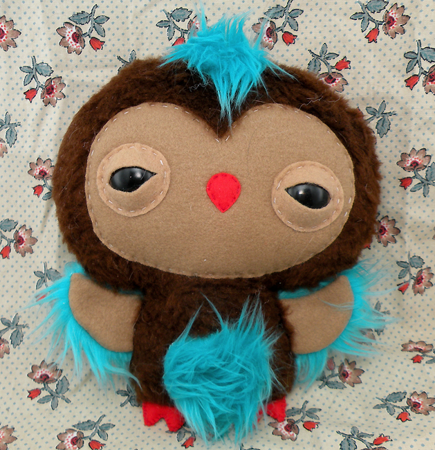 Blue+Brown Custom owlet by loveandasandwich