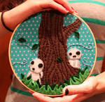 Tree spirit embroidery hoop