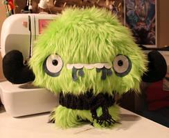Scarfed Monster by loveandasandwich