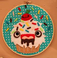 Monster Cupcake Hoop by loveandasandwich