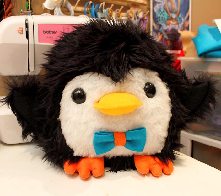 Chubby Penguin plush by loveandasandwich