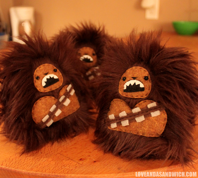 Pocket-sized Wookies by loveandasandwich