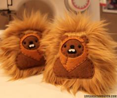 Pocket-sized Ewoks by loveandasandwich