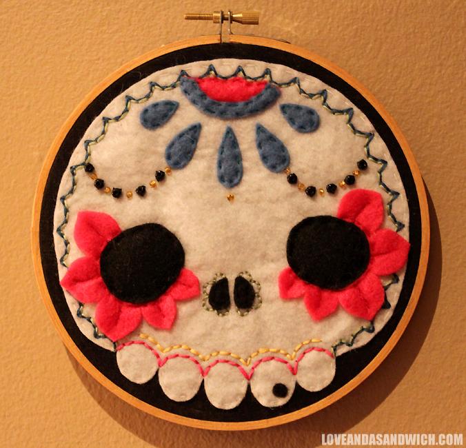 Muertos Skull Hoop by loveandasandwich