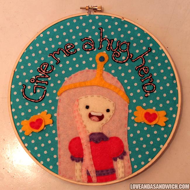 Princess Bubblegum Hoop by loveandasandwich