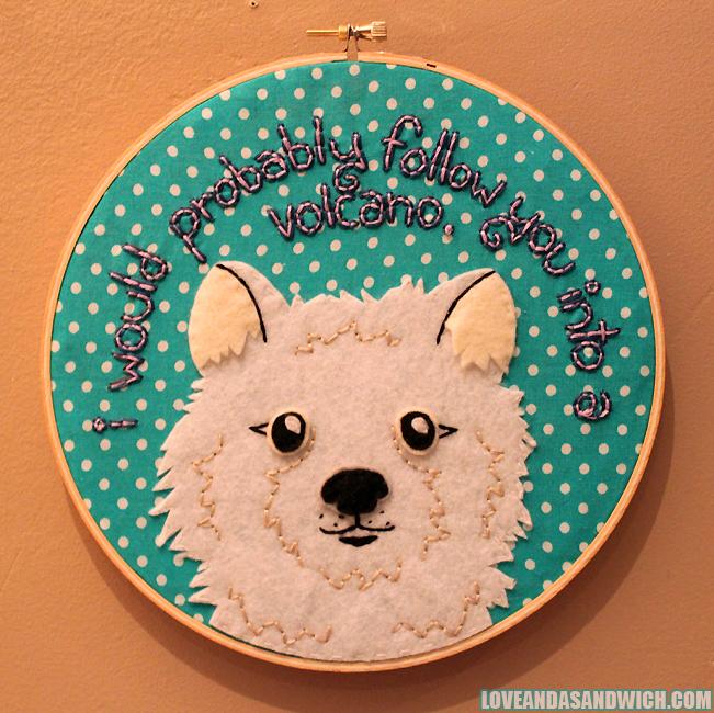 Custom Dog Hoop by loveandasandwich
