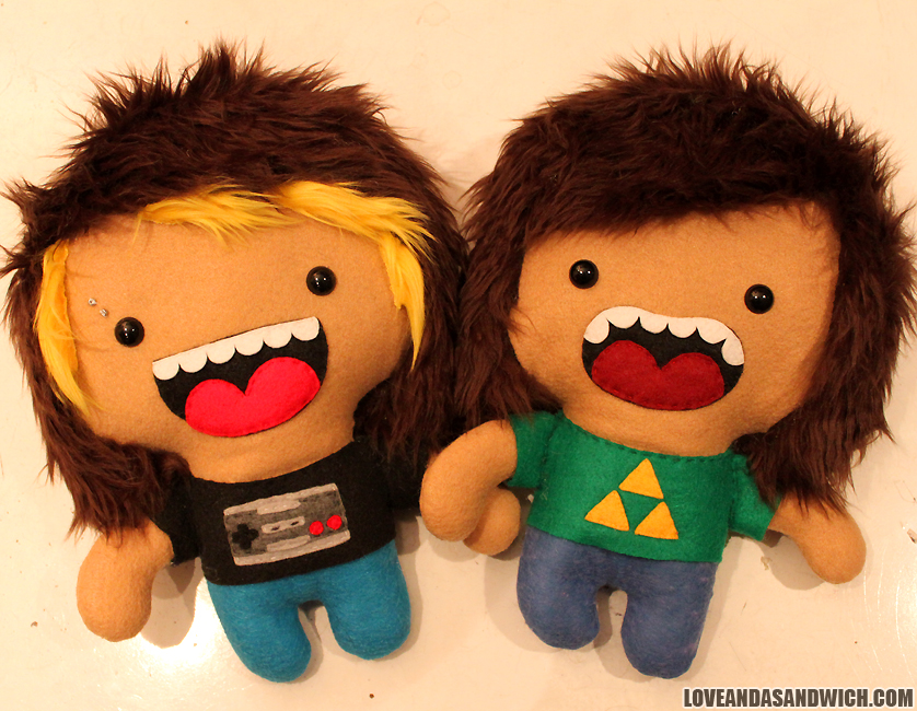 Custom Doll Pair by loveandasandwich
