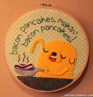 Makin Bacon Pancakes by loveandasandwich