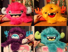 Four Custom Monstroctopi