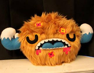 Forest Monster Pillow by loveandasandwich