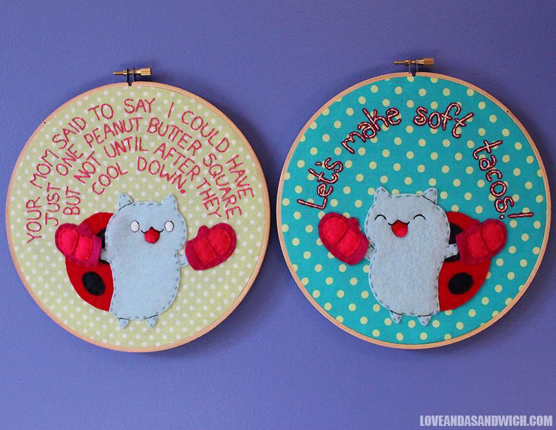 Catbug Hoops by loveandasandwich