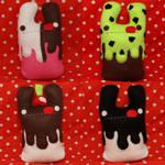 Four Ice Cream Bunnies