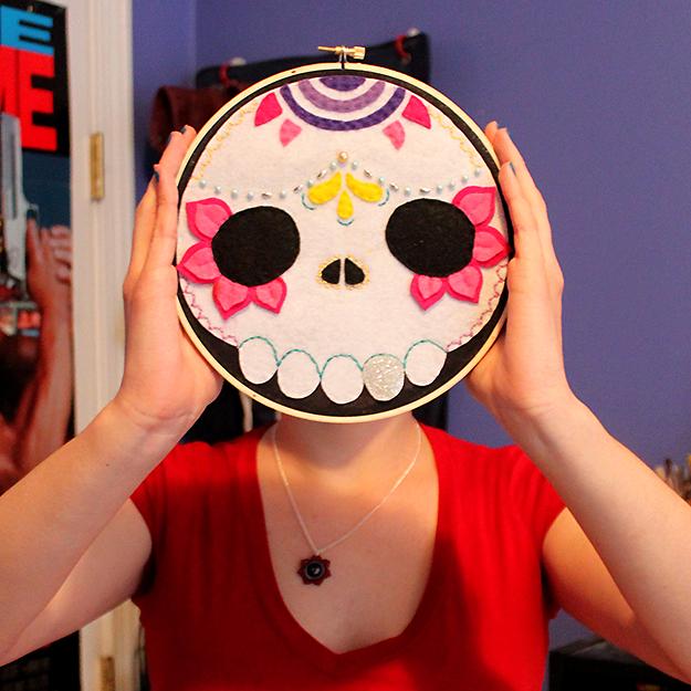 Custom Order Sugar Skull by loveandasandwich