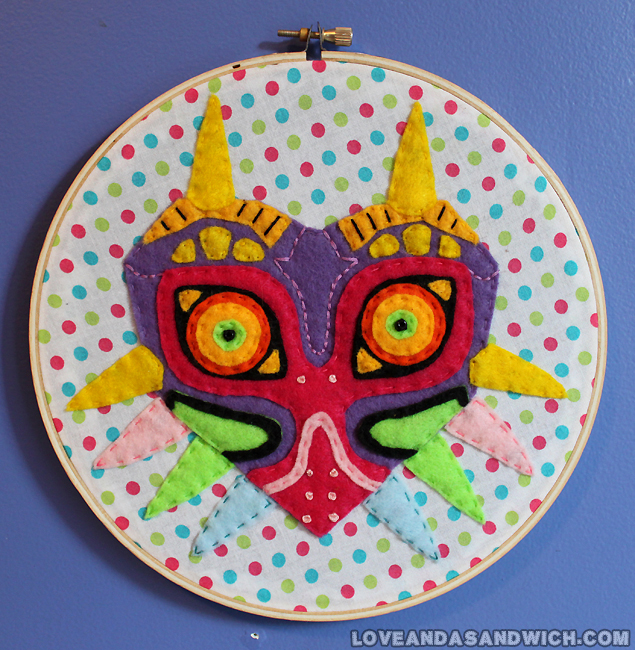 Majora's Mask Hoop by loveandasandwich