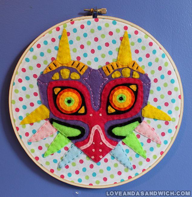 Majora's Mask Hoop by loveandasandwich