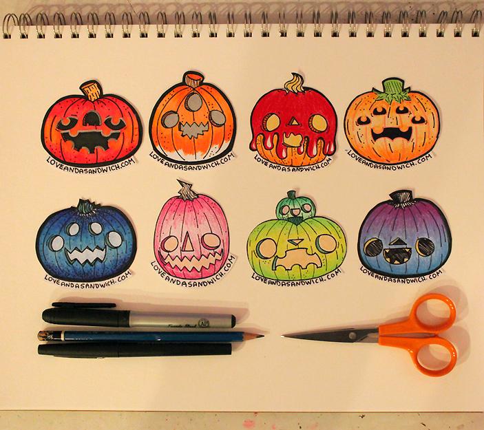 Pumpkin Doodles by loveandasandwich