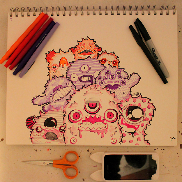 Monster Pile by loveandasandwich