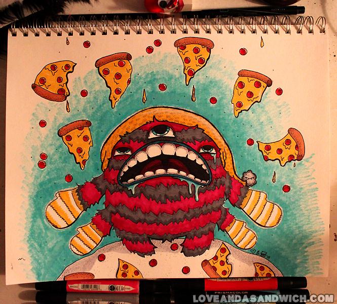 Wish it was snowing pizza by loveandasandwich