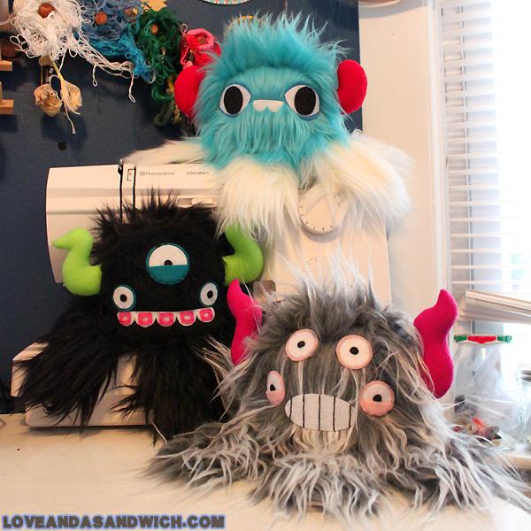 Three Newborn Monstroctpi by loveandasandwich