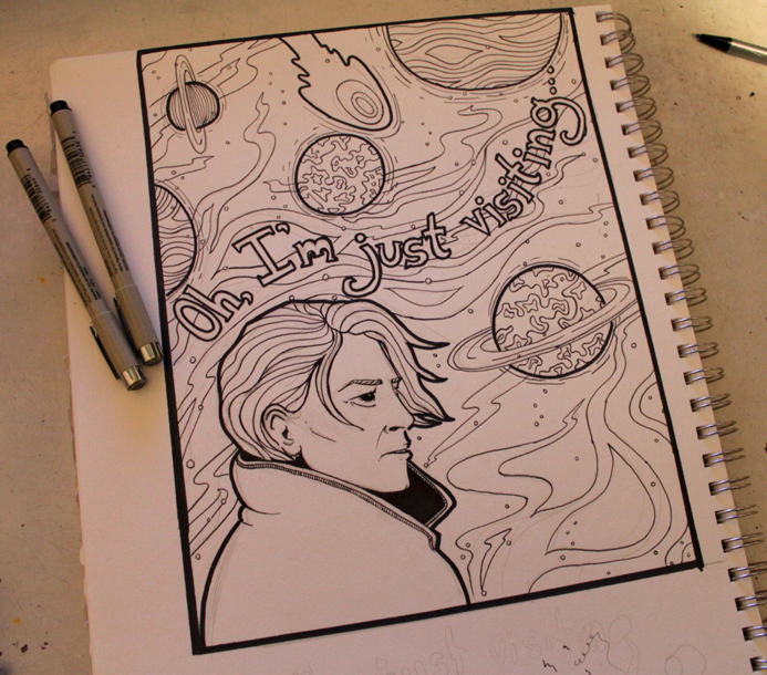 Bowie Coloring Book Page by loveandasandwich