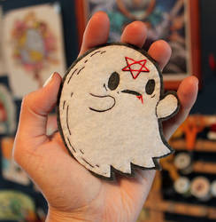 Little Heathen Ghost Patch by loveandasandwich