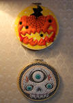 Glow-in-the-dark Halloween hoops