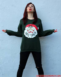 Hail Santa Sweatshirts by loveandasandwich
