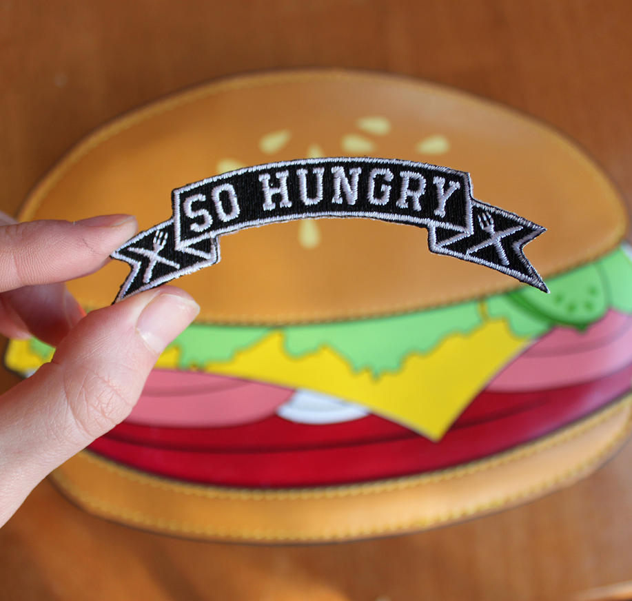 SO HUNGRY Iron-On Patch by loveandasandwich