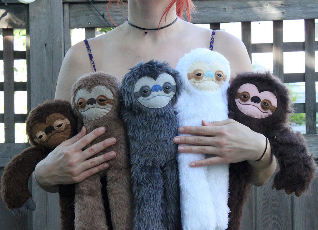 Sloth Colors by loveandasandwich
