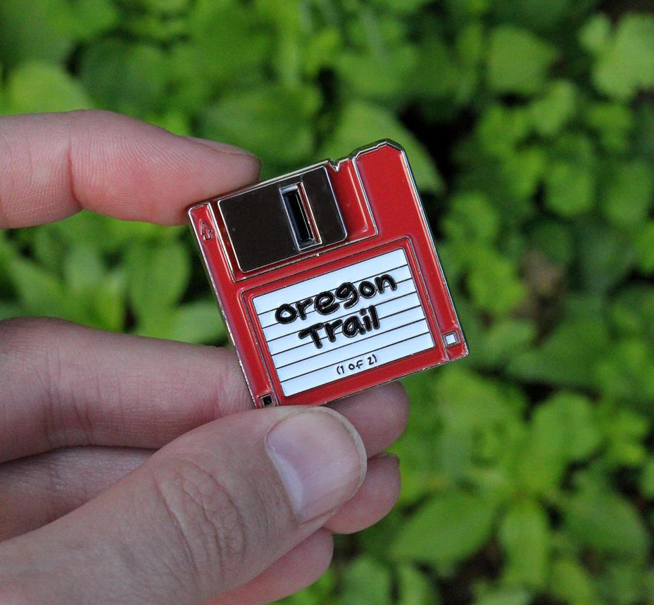 Floppy Disk Enamel Pin by loveandasandwich