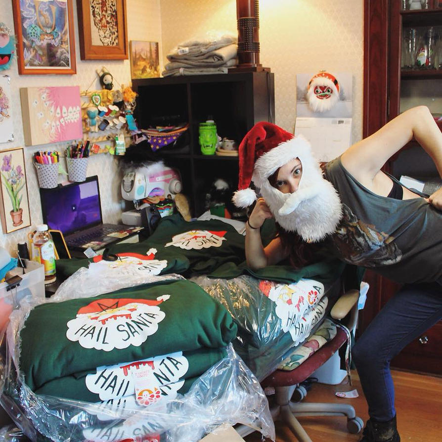 HaiL Santa Sweaters almost gone! by loveandasandwich
