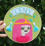 SCIENCE Embroidery Hoop