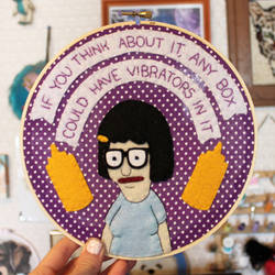 Tina Belcher Embroidery Hoop by loveandasandwich