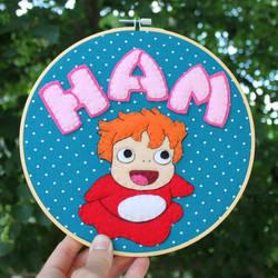 Ponyo loves Ham!