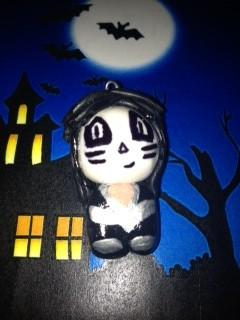 Kiss Chibi Catman/Peter Criss Keyring on Etsy by chillibearjewellery