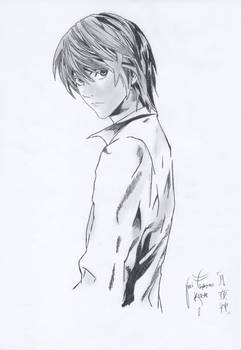 Raito Yagami Pencil drawing